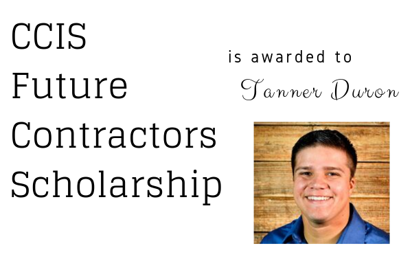 Future Contractors Scholarship Winner | Tanner Duron