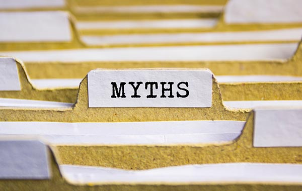 """File folder with a tab titled """"myths"""""""